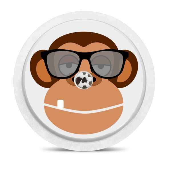 Freestyle Libre Sticker Affe
