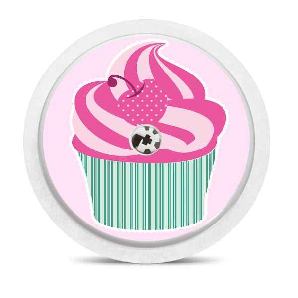 Freestyle Libre Sticker Cupcake