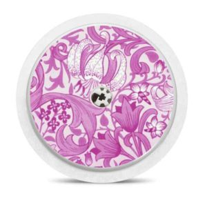 Freestyle Libre Sticker pink flowers