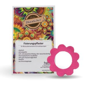 Freestyle Libre Fixierung Pink Blume