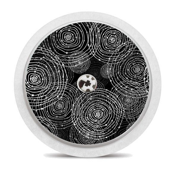 Freestyle Libre Sticker Black Circles, Sensorsticker