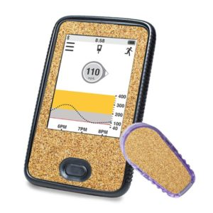 Dexcom G6 Sticker Gold Glitzer