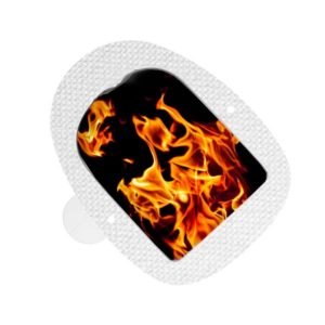 MyLife Omnipod Sticker Flames