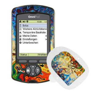 Omnipod PDM Sticker und Podsticker Artwork