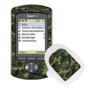Omnipod PDM und Podsticker Camouflage