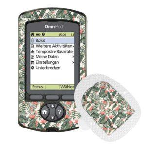 Omnipod PDM und Podsticker Tropical