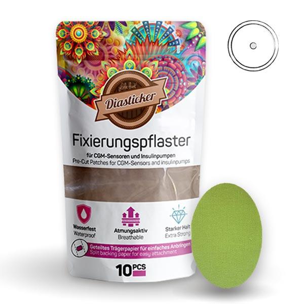 Fixierungspflaster für Freestyle Libre und Katheter Grün