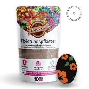 Fixierungspflaster für Freestyle Libre und Katheter Lilie Blumen