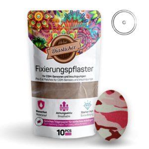 Fixierungspflaster für Freestyle Libre und Katheter Pink Army Camouflage