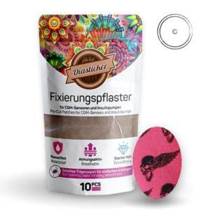 Fixierungspflaster für Freestyle Libre und Katheter Pink Totenköpfe