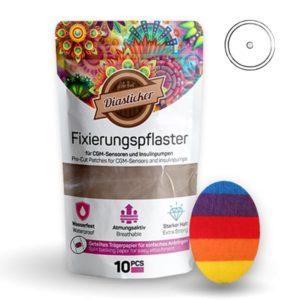 Fixierungspflaster für Freestyle Libre und Katheter bunt Rainbow