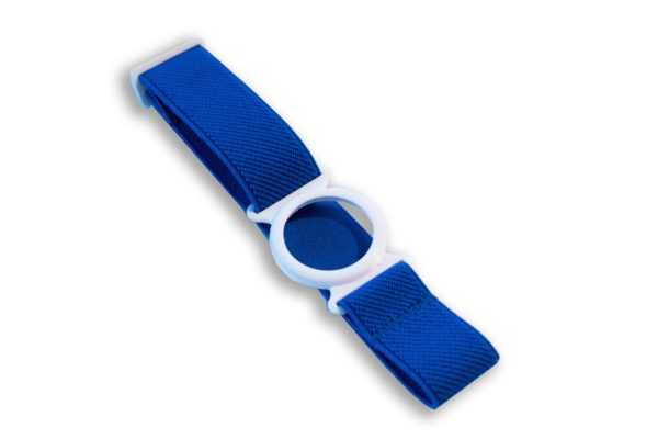 Freestyle Libre Fixierband Ring Weiß/Royal-Blau (Flexibel/Sensitiv)