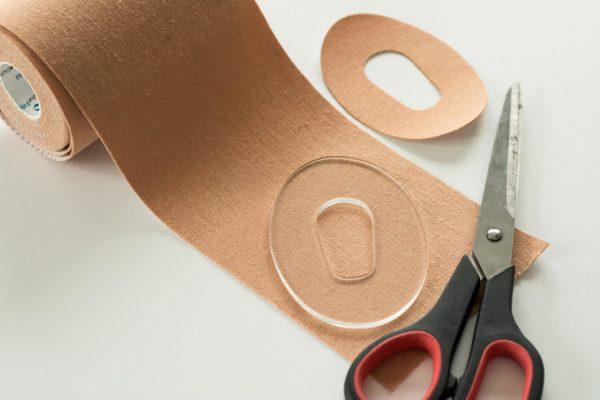 Schablone G6 Tape schneiden Pflaster