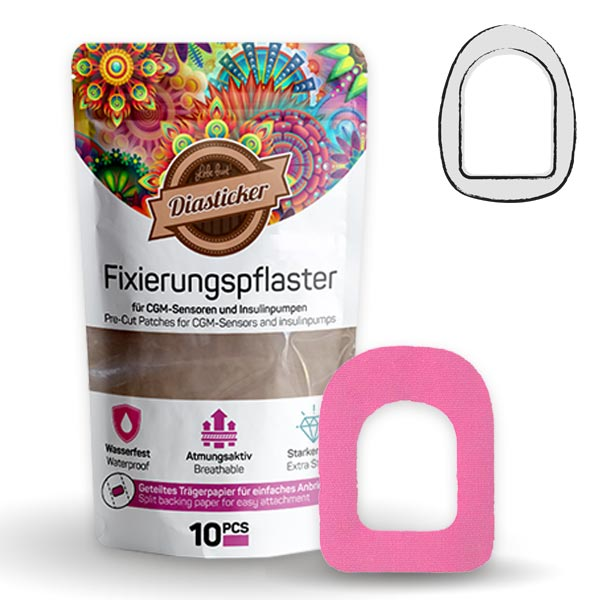 Omnipod Fixierung Pflaster Pink
