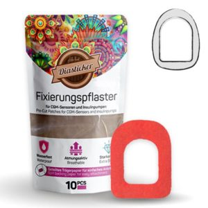 Omnipod Fixierung Pflaster Rot
