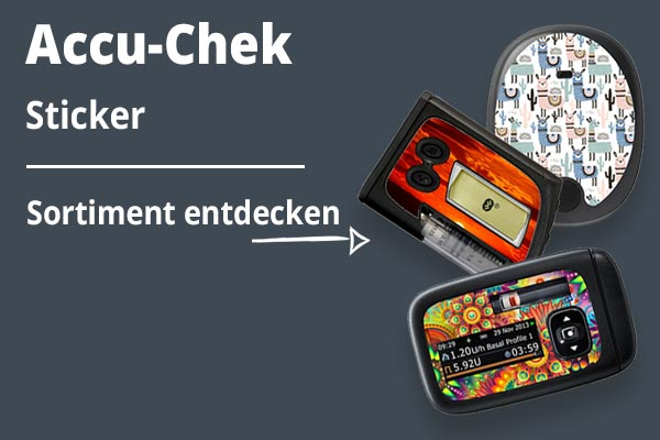 Accu-Chek Sticker Blau KAT