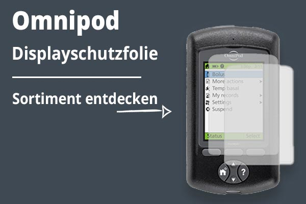 Omnipod Displayschutzfolie Kategoriebild