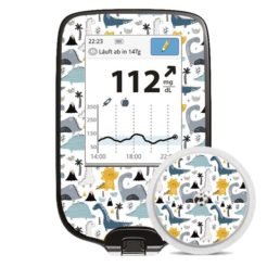 Freestyle Libre Sticker Dino-Tastic mit Sensorsticker