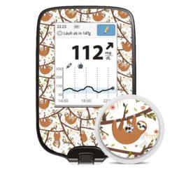 Freestyle Libre Sticker Faultiere Sloth mit Sensorsticker