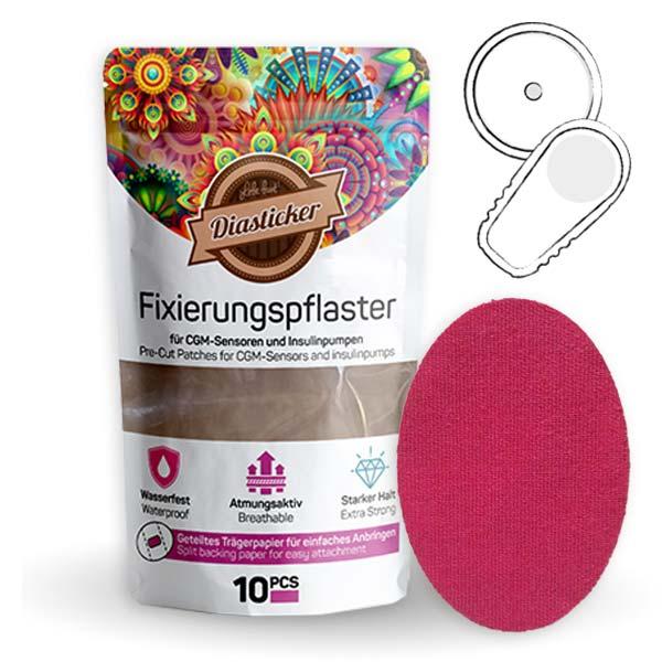 Pflaster zur Fixierung von Insulinkathetern und Freestyle Libre Sensoren, Freestyle Libre Fixierungspflaster Pink