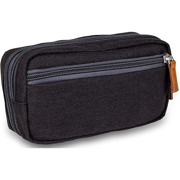 Diabetes-Tasche DIABETIC'S schwarz bitone Rückseite