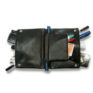 Diabetestasche Leder diabag schwarz offen