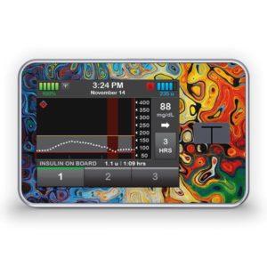 Sticker für die Tandem Diabetes Care t:slim X2 Insulinpumpe Design Artwork