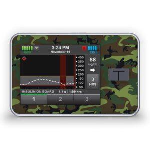 Sticker für die Tandem Diabetes Care t:slim X2 Insulinpumpe Design Camouflage