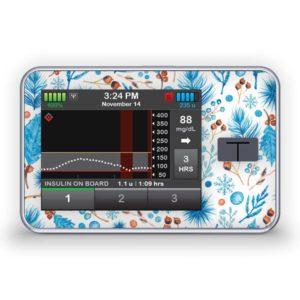 Sticker für die Tandem Diabetes Care t:slim X2 Insulinpumpe Design Christmas Spirit