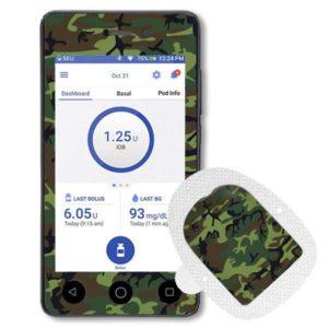 Omnipod Dash Sticker mit Podsticker Camouflage