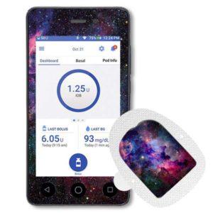 Omnipod Dash Sticker mit Podsticker Galaxy