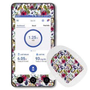 Omnipod Dash Sticker mit Podsticker