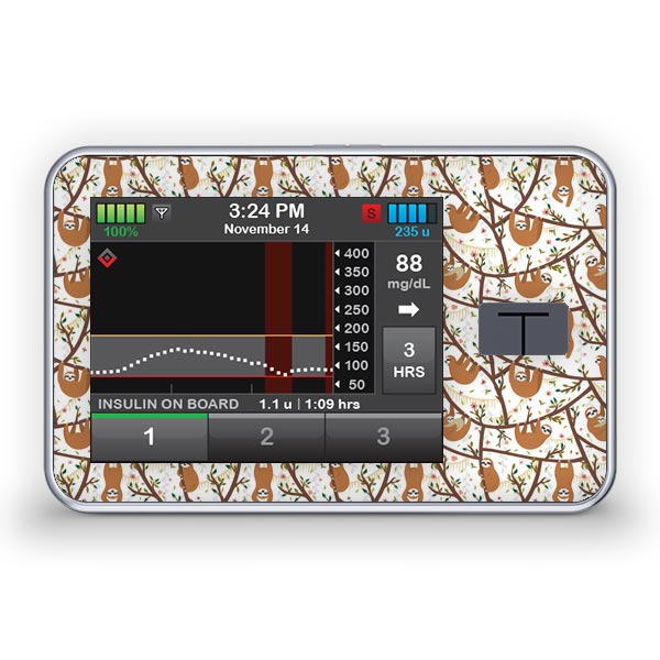Sticker für die Tandem Diabetes Care t:slim X2 Insulinpumpe Design Take it easy
