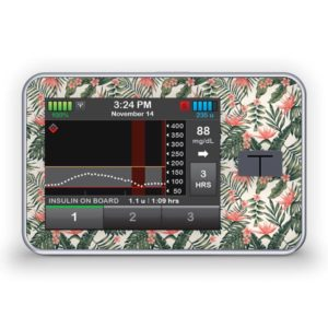 Sticker für die Tandem Diabetes Care t:slim X2 Insulinpumpe Design Tropical