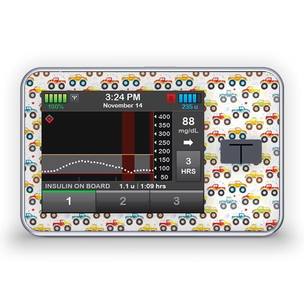 Sticker für die Tandem Diabetes Care t:slim X2 Insulinpumpe Design Trucks