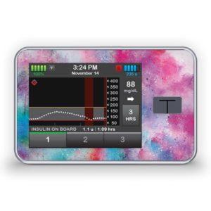 Sticker für die Tandem Diabetes Care t:slim X2 Insulinpumpe Design Watercolor