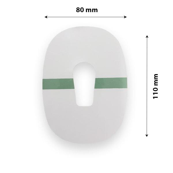Dexcom G6 Pflaster Fixierung transparent wasserfest