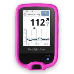 Freestyle Libre Lesegerätschutz Schutzhölle Silikoncase Pink
