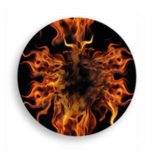Overpatch rund freestyle Libre pflaster Flames