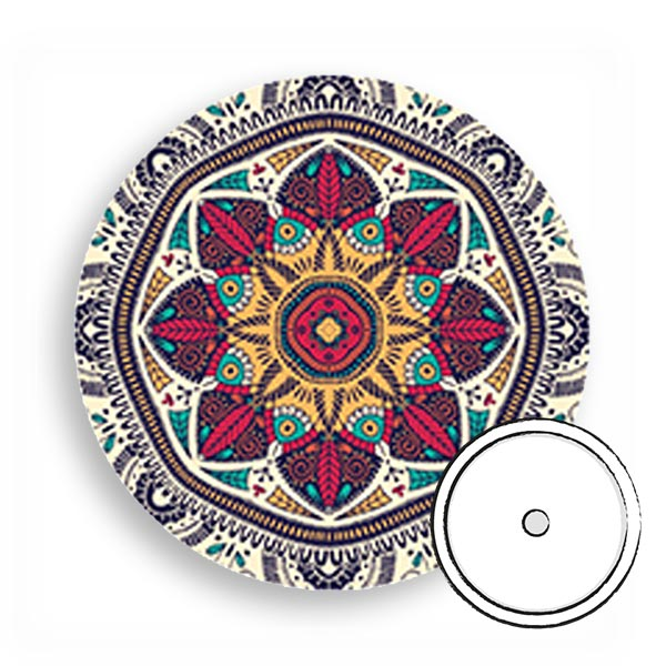 Overpatch rund freestyle Libre pflaster Wald Mandala
